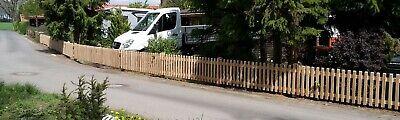 Pos.5 Staketenzaun Zaunbretter Holzzaun aus Eiche Eichen Zaun