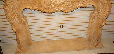 Massive French Carved Italian Marble Fireplace Mantel Mantle Surround 1940s WOW! 7