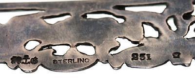 Antique Art Nouveau Gorham 925 Sterling Silver Cupid Belt Buckle Repoussé 1896 6