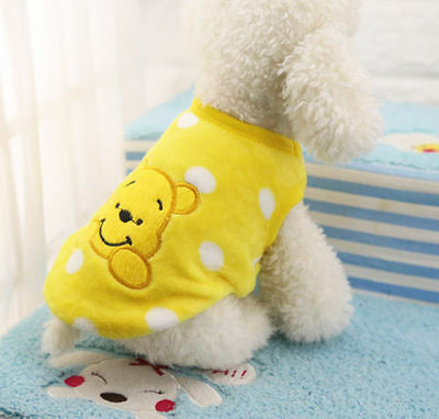 Cartoon Small Dog Clothes Pet Puppy Cute Vest Dog Cat Apparel 11 Color XXS-XXL