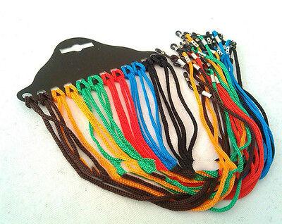12x lunettes colorées nylon cordon en verre collier porte-lunettes corde
