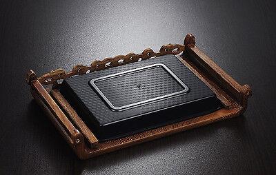 Tea tray wenge wood tea table Rosewood tea table solid wood water holder layers 2