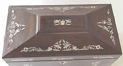 BEAUTIFUL Antque Oriental Tea Caddy w Abalone Inlay 2 • CAD $350.94
