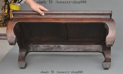 "28"" Collect old Chinese huanghuali wood hand-carved Tea ceremony Tea table desk 4"