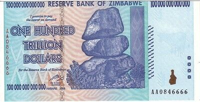Zimbabwe Full Set  of 4 Trillion Dollars Banknotes Uncirculated UNC AA+ (Zim4)