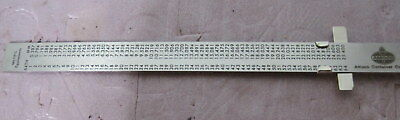 Engineer Machinist Metal Ruler w/ Clip==NOS 3