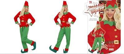 Christmas Elf Santa/'s Little Helper UK 14-24 Ladies Fancy Dress Xmas Costume New