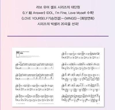 NEW History Of BTS Piano & Lyrics K-POP Bangtan Boys Piano Note Smyang Kpop BTS 3