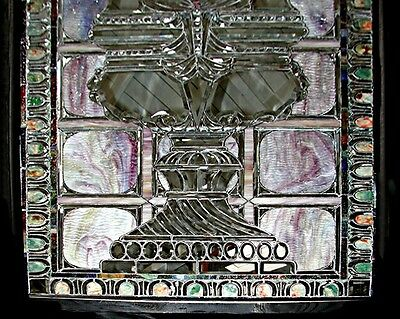 Stained Glass Window, Beveled Glass, Antique  #5507 3