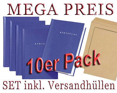 10 Stück PAGNA Bewerbungsmappen START inkl. Versandhüllen / verschiedene Farben 3