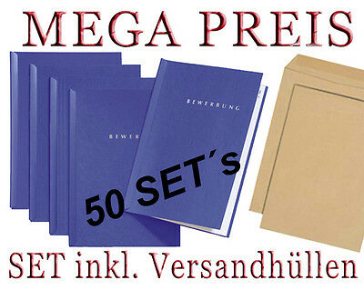 15 Stück 2-teilige 15 blaue Bewerbungsmappen von PAGNA Typ START NEUWARE