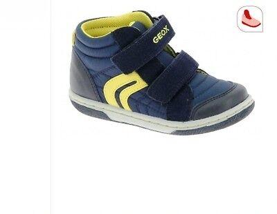 Dettagli su Scarpe Sneakers Bambino GEOX J GISLI B. C BluGrigio con Strappo Mis EU 34