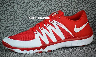 de555a9ed3680 ... Nike Free Trainer 5.0 V6 AMP Ohio State Buckeyes 723939-603 NEW OSU  White Red