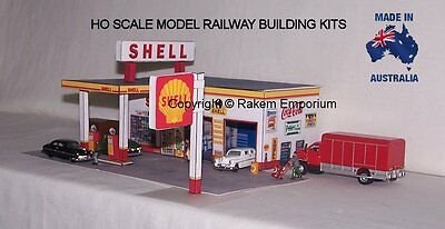 HO Scale Shell Garage Petrol Station Model Railway Building Kit - SPS1