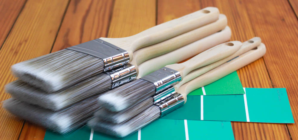 6PK Angle House Wall,Trim Paint Brush Set Home Exterior or Interior Brushes