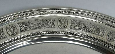 International 1924 Wedgwood Pattern Sterling Silver Low Footed Cake Plate #H86 4