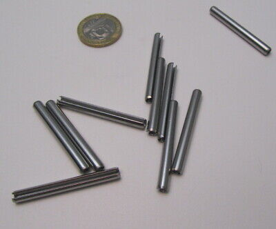 18-8 Stainless Steel Slotted Metric Spring Pin M4 Dia x 40 mm Length, 30 pcs 6
