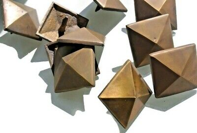 """10 STUDS door solid heavy 100% brass furniture boxes old style 2"""" decor B 2"""