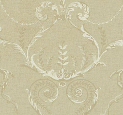Architectural Circles inside Floral Diamond Damask Wallpaper  CP6191 Triple Roll