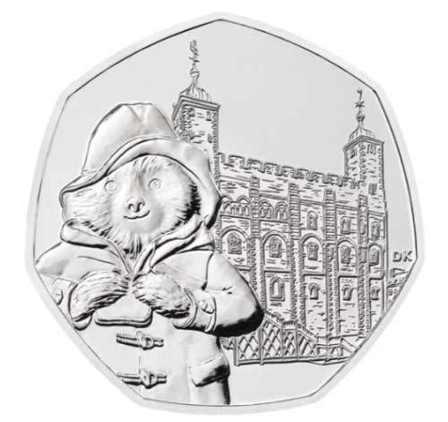 New 2019 Paddington Bear At The Cathedral . Tower . Station . Palace  50P Coin's 3