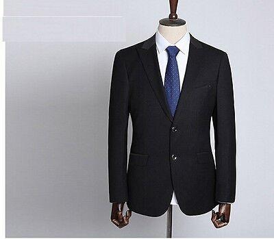 Dettagli su Elegante abito vestito completo uomo scuro blu giacca pantalone SLIM 1032