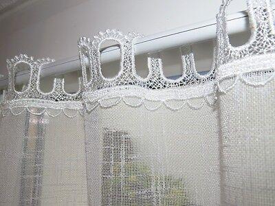 gardinen set 5 teilig neu plauener spitze k seleinen eur 99 90 picclick de. Black Bedroom Furniture Sets. Home Design Ideas