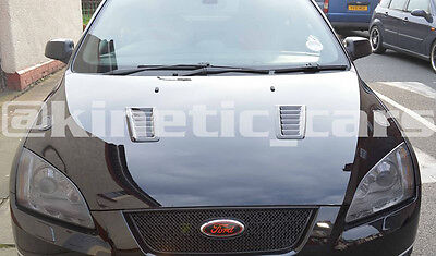 Focus RS MK2 style ABS plastic bonnet vents *FORD PROFILE* universal Exact OE 6