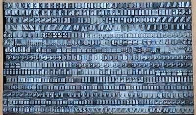 FETTE ANTIQUA 9 mm Bleischrift Bleisatz Buchdruck Alphabet Bleilettern Lettern 2
