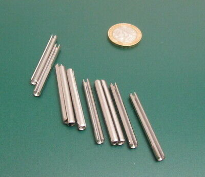 18-8 Stainless Steel Slotted Metric Spring Pin M4 Dia x 40 mm Length, 30 pcs 8