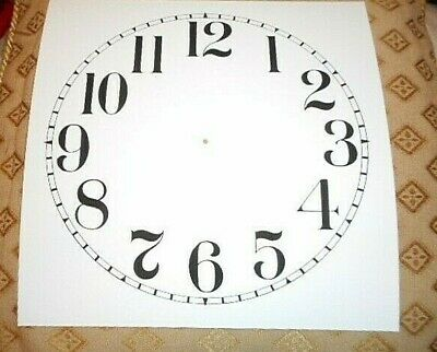 "Square Paper (Card) Clock Dial - 7"" M/T - Arabic -  MATT WHITE - Parts/Spares 2"