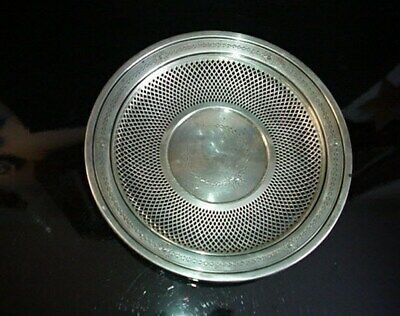 George A. Henckel & Co. Sterling Silver Pierced Bowl 1900's 2