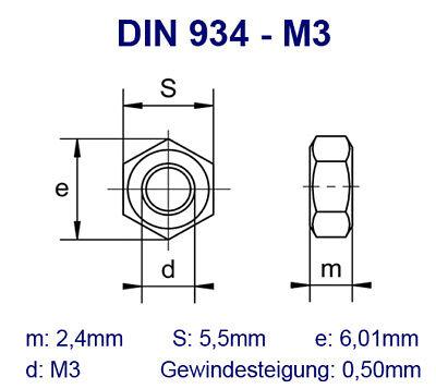 TOOLCRAFT  127993 Sechskantschrauben M3 16 mm Außensechskant DIN 933   Stahl  10