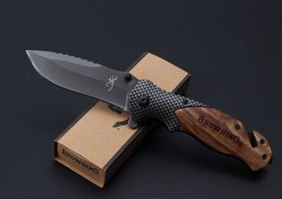 BROWNING X50 Folding Tactical Pocket Knife Hunting Camping Hiking Fish Survival 5