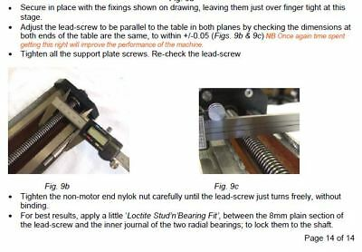 Clarke Chester Grizzly Sieg X2 mini mill CNC Conversion Drawings XYZ leadscrew