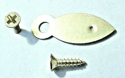 Picture Frame Turn Buttons 19mm Brassed With Screws x 10 or 100 Artist Crafting 5