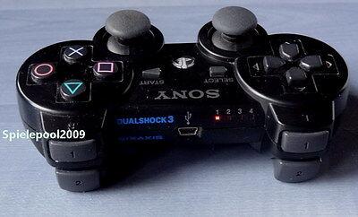 1 original Sony PS3 Dualshock 3 wireless Controller schwarz m. Vibration DEUTSCH 3