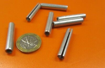 """Zinc Plate Steel Slotted Roll Spring Pin, 1/4"""" Dia x 1 3/8"""" Length, 100 pcs 3"""