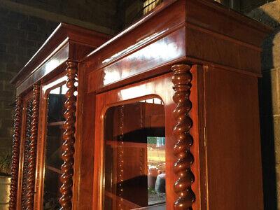 Antica ed Importante Libreria in Mogano a 4 Ante - Restaurata (in corso d'opera) 9