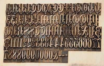 Prägeschrift 23 mm Messingschrift Buchbinder Messing Buchbinden Vergoldepresse 2