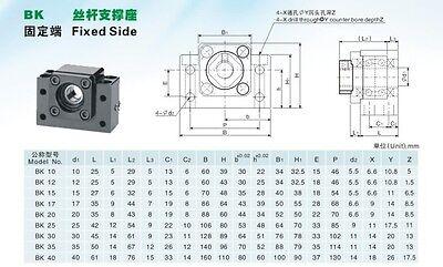 ... antibacklash ballscrew 1204-400mm-C7+BK/BF10 SFU1204Set lead screw ball screw