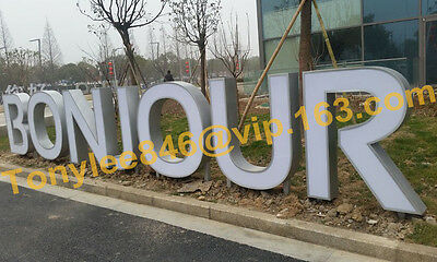 customized lighting sign letters business logos signage channel letters,12inches 6