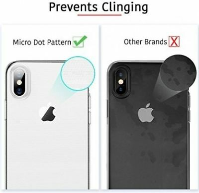 NEW iPhone X , XS Clear Gel Case Cover And Tempered Glass Screen Guard Protector