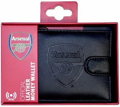 Debossed Crest Rfid Real Leather Football Club Sports Boxed Money Wallet Purse 4