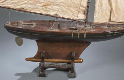 Early 20th century large painted pond boat. Lot 153