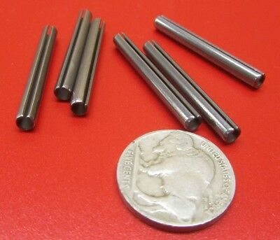 """18-8 Stainless Steel, Slotted Roll Spring Pin, .156"""" Dia x 1 3/8"""" Length, 50 pcs 2"""