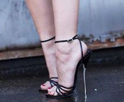 Killer Extreme Strappy Heel High Sandals Sexy Stiletto Fetish 18cm ymNnwO80v
