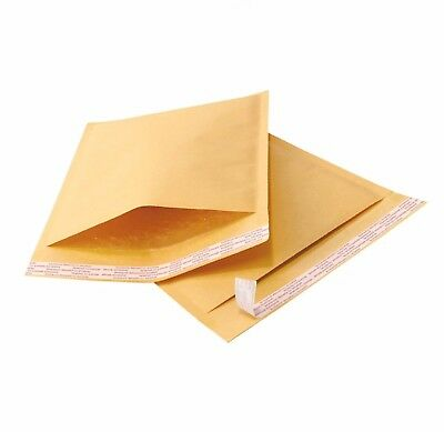 500 #000 4x8 Kraft Bubble Padded Envelopes 4.5 x 8 ~ X-Wide Mailers Bags
