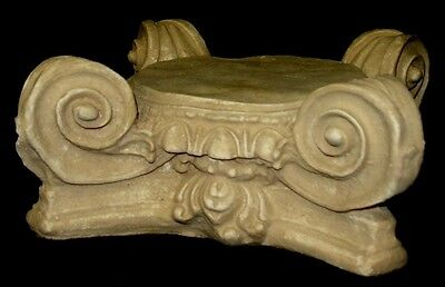 "10"" Greek Roman Ionic Capital Scamozzi Ionian Riser Column Antique Finish 3"