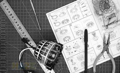 DIY Iron Man Tony Stark MK1 Arc Reactor Display Box USB Powered/Remote Control 9