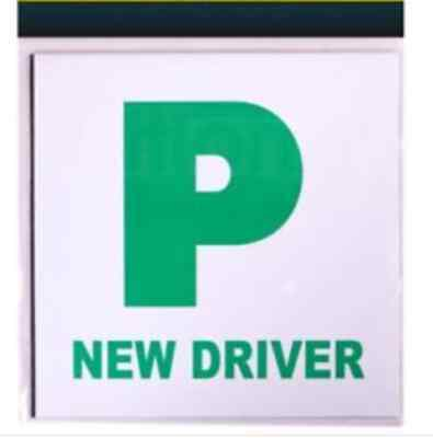2 x Fully Extra Strong Magnetic Car P Plates Learner Driver Just Passed 2